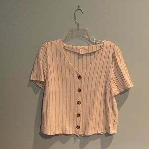 Crop button down top